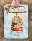 Hang Tags  FRENCH DECORATED CAKE GATEAUX TAGS or MAGNET #424  Gift Tags