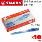 10pcs Stabilo liner 308 Retraction Ball Pen in Box (3 color: Blue / Black / Red)