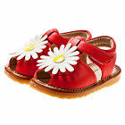 Girl's Infant Toddler Children's Kids Coral Red Squeaky Shoes Summer Sandal Amy