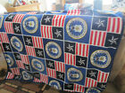 HANDMADE NAVY AIR FORCE MILITARY DOUBLE PANEL FLEECE BLANKETS BINDING EDGES NEW