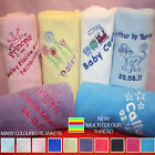PERSONALISED BABY BLANKET BOY GIRL GREAT GIFT SHOWER Many Colours To Choose From