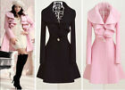 Hot sexy Women's Trench Coat Jacket Parka Fashion Slim Fit Gossip Girl 2 Color