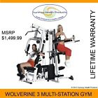 Yukon Fitness Wolverine 3 Multi-Station Home Gym, Rubber Gym Mats & More!