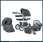 Fantastic 3in1 pram/pushchair/car seat BARTOLINO, beautiful design, free P&P