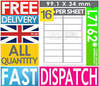 A4 SELF ADHESIVE STICKY PEEL ADDRESS LABELS - INKJET LASER COPIER PRINTER AVERY <br/> ULTRA QUALITY - FAST DISPATCH! MOST SENT 24H DELIVERY