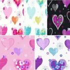 NEW LUXURY ARTHOUSE HAPPY HEARTS FLOWERS GIRLS CHILDRENS KIDS BEDROOM WALLPAPER