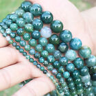 """4,6,8,10,12,14mm Natural Grass Agate Round Loose Beads 15"""""""