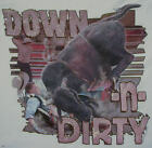 DOWN & DIRTY  COWBOY BULL RIDING WESTERN RODEO SHIRT #1306