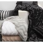 Baxter Faux Fur Throw Rug or Bed Runner 130 x 220cm Logan & Mason 4 Colours NEW