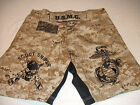 USMC MARINES DESERT SCOUT SNIPER MMA PT S-T-COMP BOARD / FIGHT SHORTS ALL SIZES