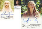 Cersie Lena Headey Tyrion Peter Dinklage Game of Thrones 2 Trading Card Auto