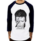 David Bowie Bolt rock star unisex Baseball Jersey t-shirt 3/4 sleeve Raglan