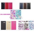 SLIM DIARY 2014 WEEK TO VIEW IN CHOICE OF COLOR AND PATTERNS