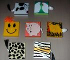 Assorted Novelty Tape Measures: Cow, Chicken, Giraffe, Tiger, Happy Face, Pig