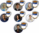 CRIMINAL MINDS DRINKS COASTER HOTCH/ROSSI/MORGAN/GARCIA/REID/JJ/PRENTIS