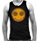 Hypnotic Smiley Face Acid Trip LSD Mens Sleeveless Muscle T Tank Top Vest Sm-2XL