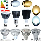 4 10x GU10 MR16 E27 4W 6W 5W 7W 9W LED Bulbs COB Lamp Day/ Warm White Spot Light