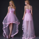 2013 Women's Tulle Satin Bridesmaid Wedding Ball Prom Gown Formal Evening Dress