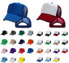 DECKY CLASSIC NEW BLANK TRUCKER HAT HATS CAP CAPS TWO TONE SOLID SNAPBACK UNISEX