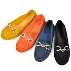 EU 38 - 44 suede Leather Chain loafer ladiess ballerina walking shoes   [HA]
