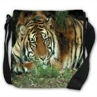 Tiger Black Canvas Shoulder Bag