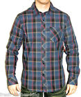 Quiksilver Button Up Shirt New Mens $55 Jesus Iguana Blue Plaid Choose Size