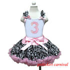 Baby Girls 3rd Birthday Tank Top Light Pink Demask Pettiskirt Party Dress 1-7Y