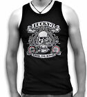 Biker Harley Ace USA Lucky 7 Seven Mens Sleeveless Muscle Tank Top Vest Sm - 2XL