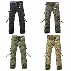Hot Mens Cotton Casual   Army  Overalls Camouflage Loose Large Size Pants