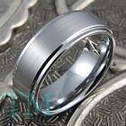 7mm Mens Tungsten Wedding Band Ring Engagement Jewelry Brushed Finish Size 6-15