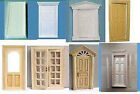 DOLLS HOUSE 12TH SCALE MINIATURE DOORS. INTERIOR AND EXTERIOR. POST FREE