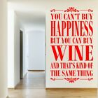 CAN'T BUY HAPPINESS wall quote money living room vinyl decal trasnfer sticker