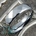 8mm Tungsten Wedding Men's Ring Women's Band Jewelry Titanium Color Size 6-15
