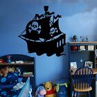 Pirate Ship Decal Vinyl Wall Sticker Art Kids Room Boys Girls Décor
