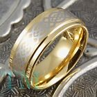 9mm Tungsten Ring 14K Gold Wedding Band Celtic Mens or Womens Jewelry Size 6-13