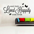 And They Lived Happily Ever After Vinyl Wall Sticker  Home Sayings Popular