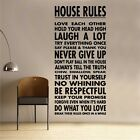 House Laws Decal Vinyl Wall Sticker Art Home Sayings Popular