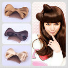 Lady Gaga Bow Faux Hair Bowknot Comb Headwear Party Hairpin Hairpiece Clip Fancy