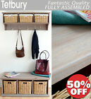 Stunning Acacia Hallway Shelf with Coat Rack and matching storage bench, BARGAIN