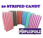 20 CANDY BAGS Buffet Lolly Bar Wedding Paper Stripe Striped Party Favor Mix Gift