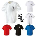 Chicago Whitesox Baseball Stripe Open Tshirts sports wear Jersey shirt Top Tee
