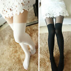 Women Sexy Black White Gipsy Sheer Mock High Stocking Pantyhose Tattoo Tights