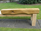 Rustic oak floating beam mantle fire suround Air dried 6x5""