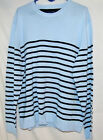 MEN'S TOMMY HILFIGER CREW NECK SWEATER LT. BLUE & NAVY STRIPE XL