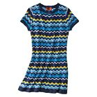 NEW! AUTHENTIC Missoni Target Knit Sweater Dress fully Lined Via BLUE HOT!