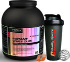 REFLEX NUTRITION INSTANT WHEY DUO 2KG PROTEIN SHAKE LEAN MUSCLE LOW FAT + SHAKER