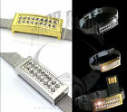 Jane Bond 4GB USB Flash Drive Discrete Memory Stick Bracelet Gold / Silver Boxed
