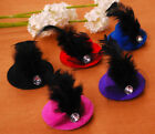 New Pet dog hair clips party show cute top hat hair clip for pet dog child kids