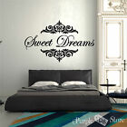 Sweet Dreams Vinyl Art Home Wall Room Quote Decal Sticker Classy Decoration