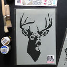 stag stencil deer stags head reusable wall art craft decor painting airbrush